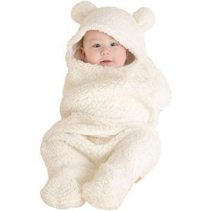 Janday ベビーおくるみ ベビー寝袋 あったかい ふわふわ 抱っこ布団 赤ちゃんの寝袋 布団 柔らかく記念撮影 出産準備 出産祝い|masukosyouten