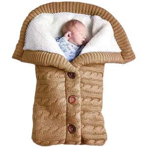 WBTY おくるみ 冬 新生児 ベビーおくるみ ベビー寝袋 ニットとウール製 手作り キット ブランケット ベビーニット寝袋 赤ちゃん布団 ソフト 暖|masukosyouten