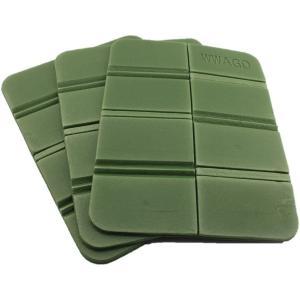 【3個セット】 折り畳み マット 座布団 8つ折り 軽量 コンパクトで持ち 運びに便利 (ダークグリーン) masukosyouten