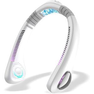 2021年最新設計 ネッククーラー 首掛け扇風機 携帯扇風機 USB充電式 4000mAh超大容量 軽量 ハンズフリー 扇風機 ポータブル 物理的な冷|masukosyouten