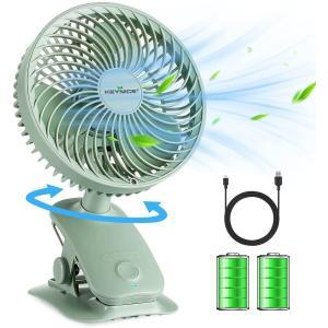 KEYNICE 卓上扇風機 USB扇風機 クリップ 小型 扇風機 USBミニファン 充電式 静音 せんぷうき 首振り 扇風機 静音 リズム風搭載 熱中|masukosyouten
