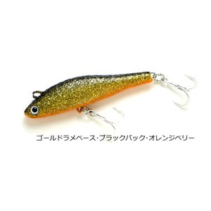 K2 無限ルアー6cm 13:ゴールドラメベース・ブラックバック・オレンジベリー|masuoka