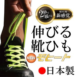 靴ひも スニーカータイプ 伸びる靴紐 モヒート ゴム製 おし...
