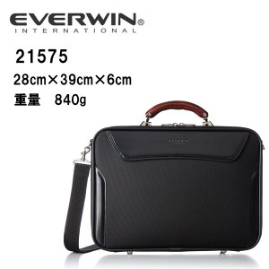 送料全国無料 ビジネス 豊岡製鞄 日本製 父の日ギフト 軽量 EVERWIN(エバウィン) ソフトアタッシュ 21575 Size H28cm×W39cm×D6cm 本体:約840g |masuya-bag