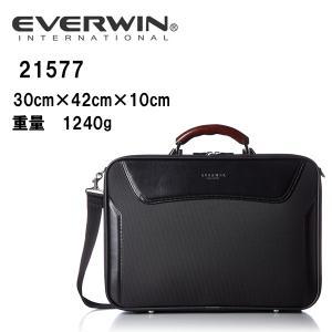 送料全国無料 ビジネス 豊岡製鞄 日本製 父の日ギフト 軽量 EVERWIN(エバウィン) ソフトアタッシュ 21577 Size H30cm×W42cm×D10cm 本体:約1240g |masuya-bag