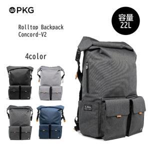 代理店保証付 PKG(ピーケージー) Rolltop Backpack Concord-V2 サイズ:H48.3cm×W34.3cm×D17.8cm 容量:22L|masuya-bag