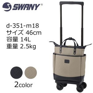 SWANY スワニー D-351 ルクサ d-351-m18 46cm/容量:14L/重量:2.5kg 機内持込サイズ  ウオーキングバッグ シニア 母の日 プレゼント キャリーバッグ masuya-bag