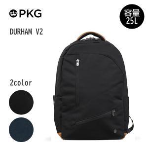 日本総代理店 PKG(ピーケージー) DURHAM V2 サイズH49.5cm×W33cm×D26.7cm/容量25L ※本体ブラック持ち手等革付属部分は、茶色です※|masuya-bag