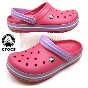 [30%OFF] クロックス crocs Crocband 11016-6OC paradise pink/iris クロックバンド クロッグ サンダル 桃紫 レディース|masuya92