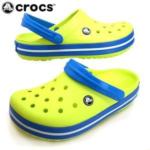 [34%OFF] クロックス crocs Crocband 11016-73E tennis ball green/ocean クロックバンド クロッグ サンダル レディース/メンズ masuya92