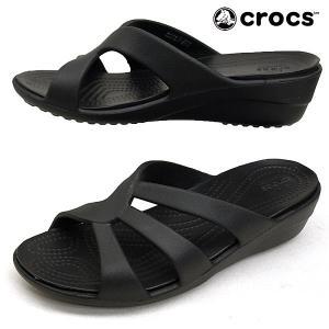 ■商品概要■ crocs Sanrah Strappy Wedge クロックス サンラ ストラッピー...