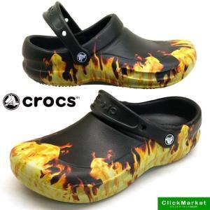 クロックス crocs bistro graphic clog 204044 001 Black ビストロ グラフィック クロッグ ワークサンダル メンズ masuya92