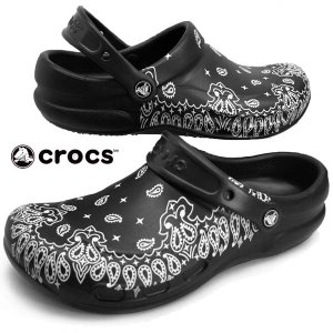 クロックス crocs bistro graphic clog 204044-103 white/black ビルトロ グラフィック クロッグ ワークサンダル メンズ|masuya92