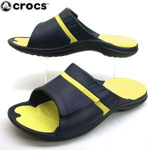 [30%OFF]クロックス crocs modi sport slide 204144-4G0 紺黄 モディ スポーツ スライド サンダル メンズ masuya92