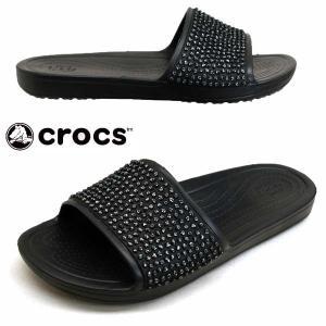 クロックス crocs sloane embellished slide 204691-060 黒 スローン エンベリッシュド スライド サンダル レディース|masuya92