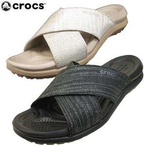 クロックス crocs Capri Shimmer Cross-Band Sandal 204908 060 1C4 カプリ シマー エックス バンド サンダル レディース|masuya92