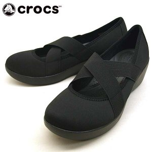 クロックス crocs busy day strappy wedge w 205306 060 黒 ビジーデイ ストラッピー ウェッジ スリッポン レディース|masuya92