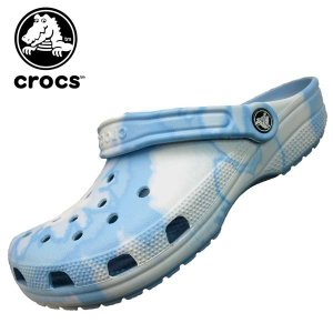 クロックス crocs classic tie dye graphic clog 205453-44o クラシック タイ ダイ グラフィック クロッグ 水色 サンダル レディース/メンズ|masuya92