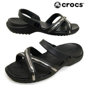 クロックス crocs meleen metalblock xband sndl 205571-0FG 黒 メレーン メタルブロック エックスバンド サンダル レディース|masuya92