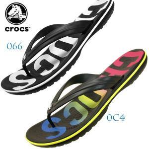 クロックス crocs crocband printed flip 205943 0c4 066 クロックバンド プリンテッド フリップ トング サンダル ビーチサンダル レディース/メンズ|masuya92