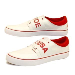 ディーシーシューズ DC Shoes TRASE TX SP 202032 エラスティックバンド 白赤 スリッポン スニーカー メンズ masuya92