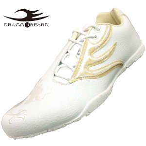 ドラゴンベアード DRAGONBEARD DB-3903J 白白 ドライビング スニーカー メンズ|masuya92