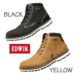 エドウィン EDWIN EDW- 7922 防水設計 ノンスリップソール カジュアル ショートブーツ メンズ|masuya92