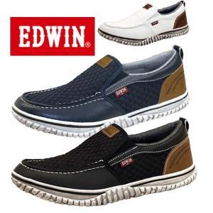 エドウィン EDWIN 7538 スリッポン カジュアル スニーカー メンズ masuya92
