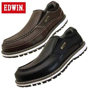 エドウィン EDWIN 7923 防水設計 カジュアルシューズ スリッポン メンズ|masuya92