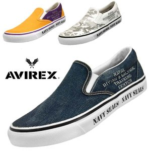 アビレックス AVIREX FREEDOM 3528 フリーダム スリッポン キャンバス スニーカー メンズ|masuya92