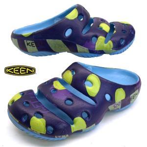 キーン KEEN YOGUI ARTSFULL 1020297 ヨギ アーツフル DOTS & STRIPES 紫 クロッグサンダル メンズ masuya92