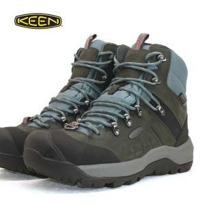 キーン KEEN REVEL IV MID POLAR 1023629 レヴェル フォー ミッド ポーラー 灰/青 WP 防水 防滑 保温 トレッキング 登山靴 レディース|masuya92