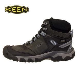 キーン KEEN RIDGE FLEX MID WP M リッジ フレックス ミッド ウォータープルーフ 1024911 濃灰黒 防水 登山靴 ハイキングシューズ メンズ|masuya92