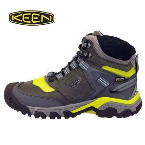 キーン KEEN RIDGE FLEX MID WP M リッジ フレックス ミッド ウォータープルーフ 1024912 灰濃緑 防水 登山靴 ハイキングシューズ メンズ|masuya92