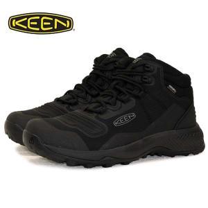 キーン KEEN TEMPO FLEX MID WP テンポ フレックス ミッド ウォータープルーフ 1025293 黒 防水 登山靴 ハイキングシューズ メンズ|masuya92
