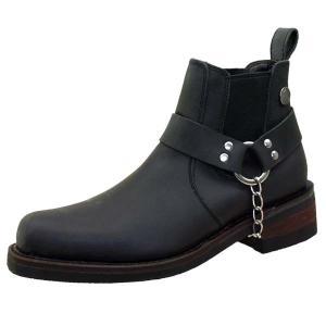 シエラデザインズ SIERRA DESIGNS 5004 黒 本革 サイドゴア リングブーツ エンジニア メンズ ショートブーツ|masuya92