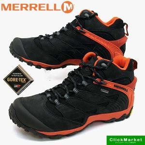 メレル MERRELL CHAMELEON 7 MID GORE-TEX J98281 カメレオン 7 ミッド ゴアテックス 防水 黒橙 メンズ|masuya92