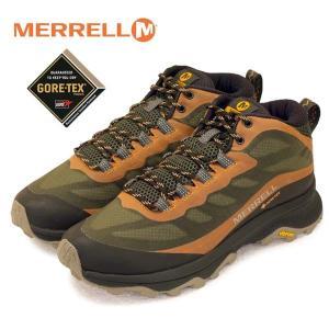 メレル MERRELL MOAB SPEED MID GTX モアブ スピード ミッド ゴアテックス 135411 オリーブ 防水 透湿 登山靴 トレッキング メンズ|masuya92