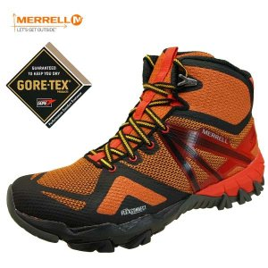 [36%OFF] メレル MERRELL MQM FLEX MID GTX J98297 フレックス ミッド ゴアテックス 防水 透湿 黒橙 メンズ|masuya92