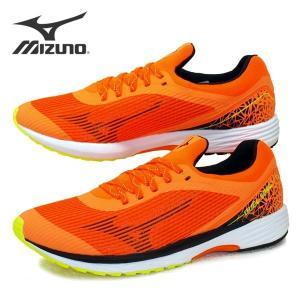 ミズノ MIZUNO DUEL SONIC WIDE U1GD203610 デュエルソニック ワイド 陸上競技 橙 3E相当 ランニング マラソン メンズ masuya92