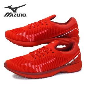 [30%OFF] ミズノ MIZUNO DUEL SONIC WIDE U1GD203656 デュエルソニック ワイド 陸上競技 赤 3E相当 ランニング マラソン メンズ masuya92