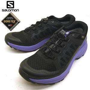 サロモン SALOMON XA ELEVATE GTX 401521 黒紫 トレイル ランニング レ...