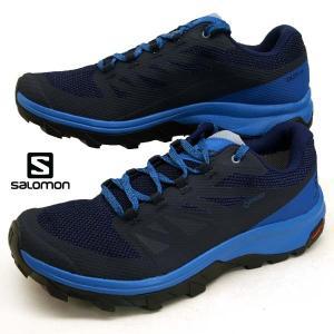 [30%OFF] サロモン SALOMON OUTline GTX 406191 アウトドア ハイキング ランニングシューズ 青 メンズ|masuya92