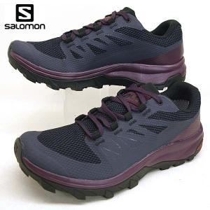 サロモン SALOMON OUTline GTX W 406196 紺紫 ハイキング 登山靴 ゴアテックス 防水 レディース|masuya92
