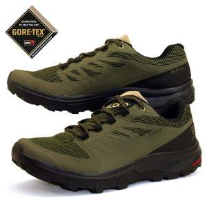 サロモン SALOMON OUTline LO GTX 409968 緑 ハイキング 登山靴 ゴアテ...