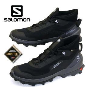 サロモン SALOMON CROSS OVER CHUKKA GTX 412831 黒 ハイキング 登山靴 ゴアテックス 軽量 防水 メンズ|masuya92