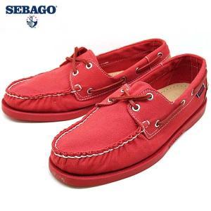 [64%OFF]セバゴ SEBAGO Spinnaker スピンネーカー 720148 赤 キャンバス デッキシューズ メンズ|masuya92