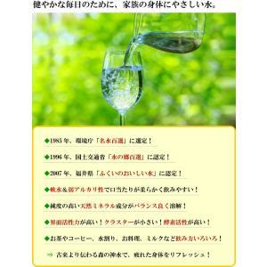 あすつく非対応 常温便 特産品 福井県 ご当地ミネラルウォーター!日本の名水百選、わかさ瓜割の水(2L×6本)[軟水/飲料水/産直/送料無料]|masuyone|05