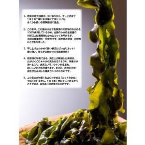 【在庫切れ】天然乾わかめ50g リアス式海岸福井県若狭湾の中でもラムサール条約登録の三方五湖に面する海が育んだ天然もの [ワカメ/産直/メール便]|masuyone|06