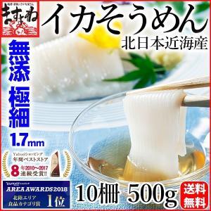 いか イカ スルメ 烏賊 無添加 無漂白 北日本近海産いかそうめん10柵500g 極細1.7mm 冷凍便 送料無料|masuyone
